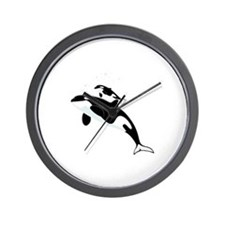 Killer Orca Whales Wall Clock