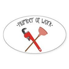 -Plumber at work- Decal