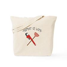 -Plumber at work- Tote Bag
