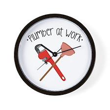 -Plumber at work- Wall Clock