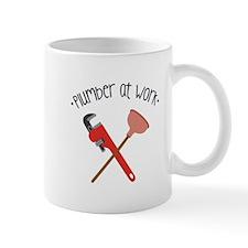 -Plumber at work- Mugs
