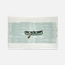 Abstract Mint Blue Fisherman Boat Magnets