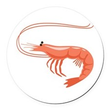 Prawn Shrimp Round Car Magnet