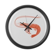 Prawn Shrimp Large Wall Clock