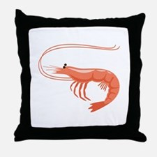 Prawn Shrimp Throw Pillow