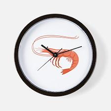 Prawn Shrimp Wall Clock