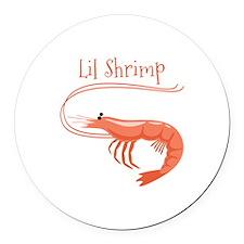 Lil Shrimp Round Car Magnet