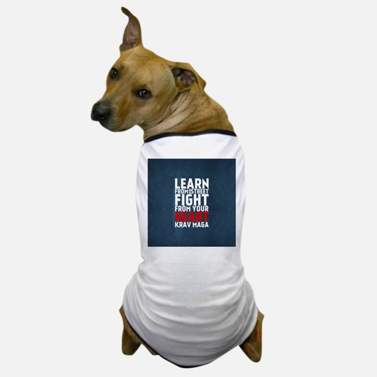 Learn from the street Krav Maga RED Dog T-Shirt
