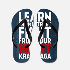Learn from the street Krav Maga RED Flip Flops