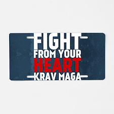 Learn from the street Krav Maga RED Aluminum Licen