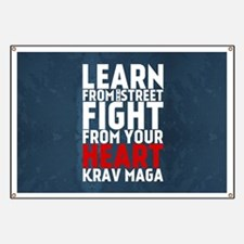 Learn from the street Krav Maga RED Banner