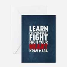 Learn from the street Krav Maga RED Greeting Cards