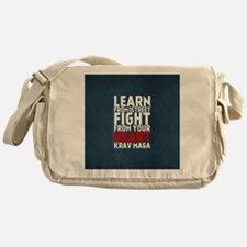 Learn from the street Krav Maga RED Messenger Bag