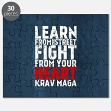 Learn from the street Krav Maga RED Puzzle