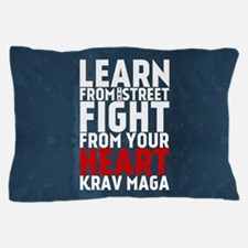 Learn from the street Krav Maga RED Pillow Case