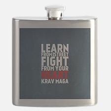 Learn from the street Krav Maga RED Flask