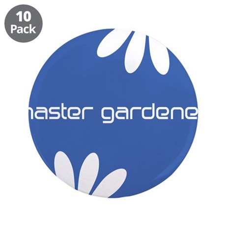 "Master Gardener Blue White Floral Gardening 3.5"" B"