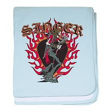 Skeleton Singer baby blanket