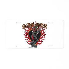 Skeleton Singer Aluminum License Plate