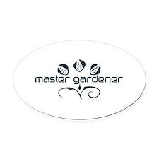 Master Gardener Logo Garden Black White Oval Car M