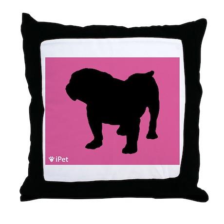 Bulldog iPet Throw Pillow