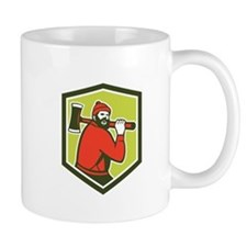 Paul Bunyan LumberJack Carrying Axe Mugs