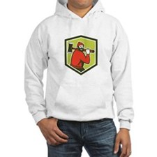 Paul Bunyan LumberJack Carrying Axe Hoodie