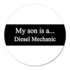 Son - Diesel Mechanic Round Car Magnet
