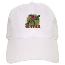 Skeleton Rock Guitarist Baseball Cap