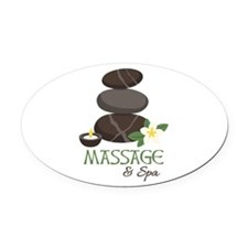 Massage And Spa Oval Car Magnet