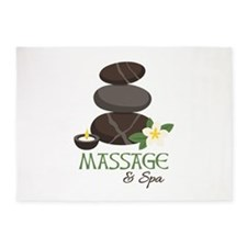 Massage And Spa 5'x7'Area Rug