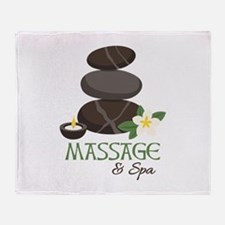 Massage And Spa Throw Blanket