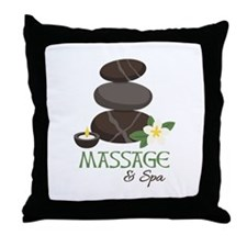 Massage And Spa Throw Pillow