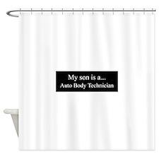 Son - Auto Body Technician Shower Curtain