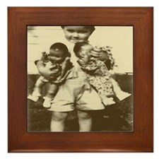 Baby Dolls Framed Tile