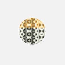 Orange Grey Cream Classic Pattern Mini Button