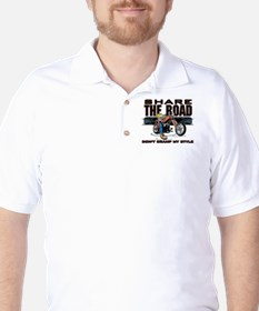 Share the Road Biker Golf Shirt