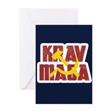 Krav Maga Russia Soviet Union Greeting Cards