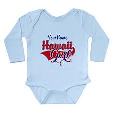 Hawaii Girl Long Sleeve Infant Bodysuit