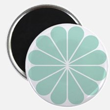 Divine Art Deco Style Mint Green Flower Magnets