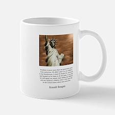Ronald Reagan Freedom Quote Mugs