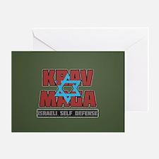 Israeli Krav Maga Magen David Greeting Cards