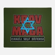 Israeli Krav Maga Magen David Throw Blanket