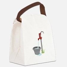 Well Water Hand Pump Canvas Lunch Bag