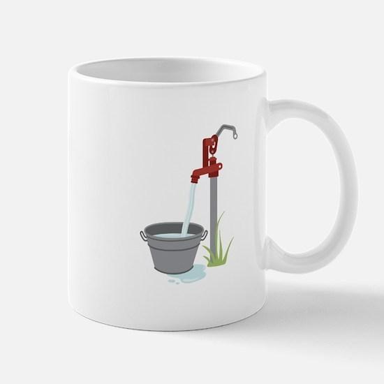 Well Water Hand Pump Mugs