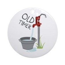 OLD TIMER Ornament (Round)