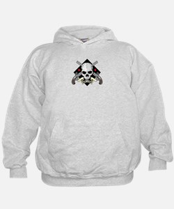 Lock and Load Skull and Guns Hoodie