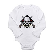 Lock and Load Skull an Long Sleeve Infant Bodysuit