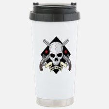 Lock and Load Skull and Stainless Steel Travel Mug