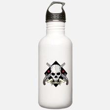 Lock and Load Skull an Water Bottle